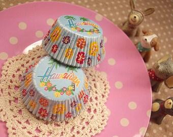 Hawaii Beach Party Cupcake Liners (50)