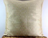 Silk Chevron Decorative throw Pillow Cover Silk Pillow 18x18,ivory/cream/white Pillow Accent Pillow Sofa Pillow Couch Pillow floor Pillow.