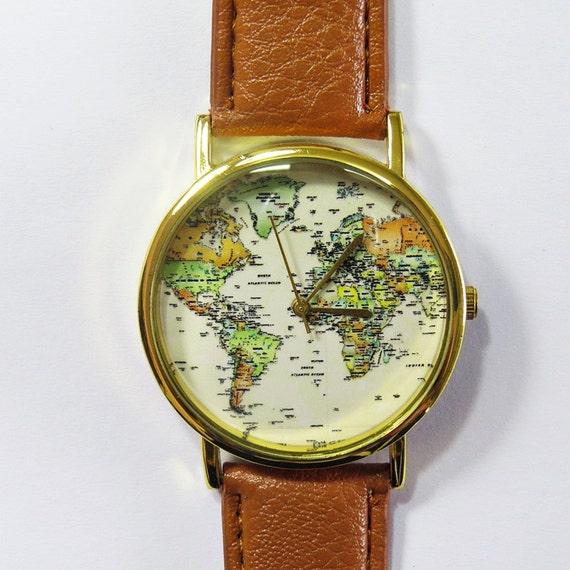 Célèbre Monde carte montre Globe montre cadeau voyageur montre en YH41