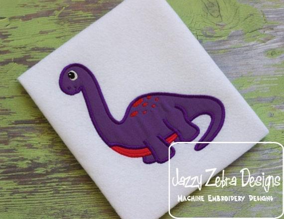Brachiosaurus Applique embroidery Design - Dinosaur applique design - dino applique design