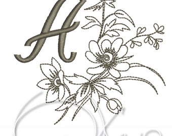 MACHINE EMBROIDERY FILE - Custom Initials