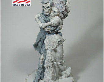 Last Dance Skeleton Halloween Wedding Cake Topper Bride and Groom 48 LD