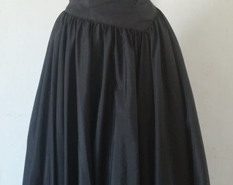 Vintage Mike Benet Black ball gown/ formal dress floor length origami bodice
