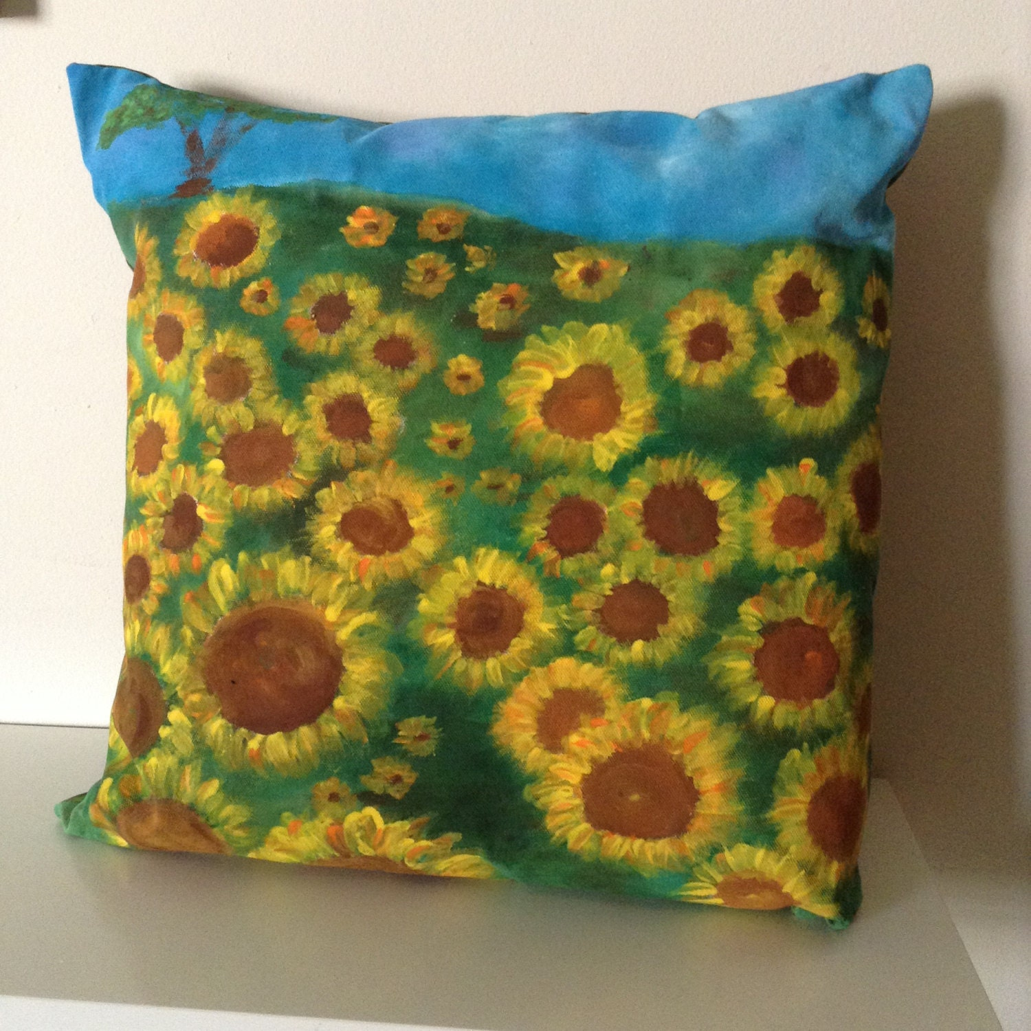 Decorative Pillows With Sunflowers : Sunflower Decorative Pillow / Sunflower Landscape Pillow