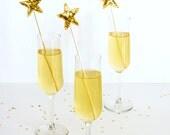 Sequin Star Drink Stirrer DIY Kit in Gold