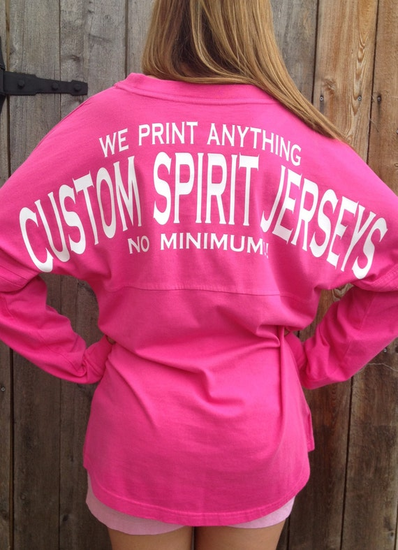 custom spirit jersey no minimum by whalestailboutique on etsy