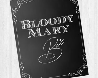 Bloody Mary Bar Sign - Wedding/ Special Event / Brunch
