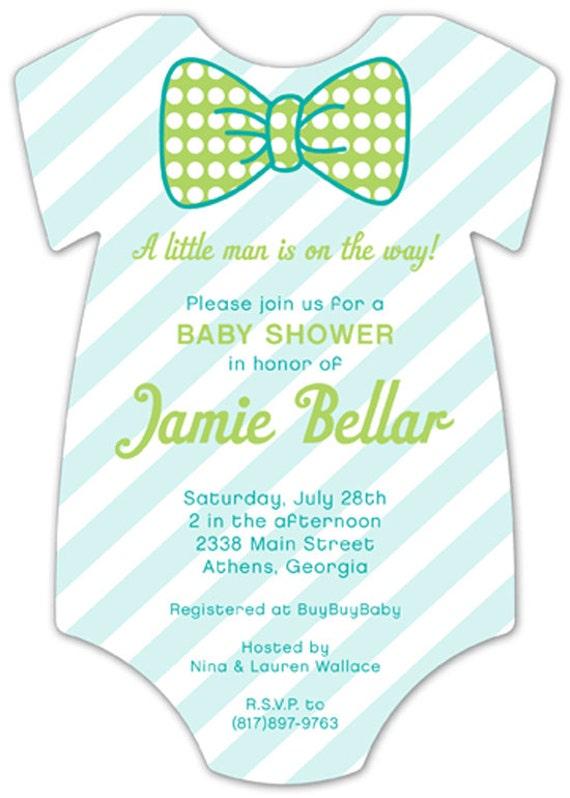 pattern cutie onesie baby shower invitation sold in sets of