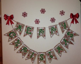 Burlap Holiday Banners