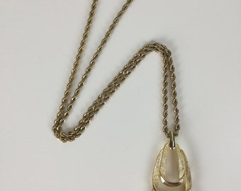 large gold mod pendant necklace