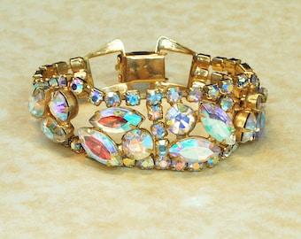 Vintage Bracelet - Vintage Costume Rhinestone Jewelry Bracelet
