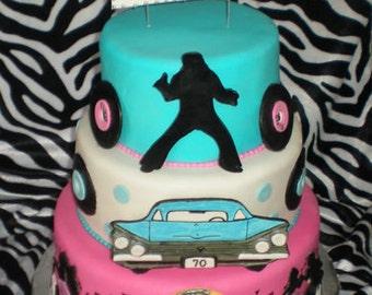 50's Theme Cake Decorating Kit