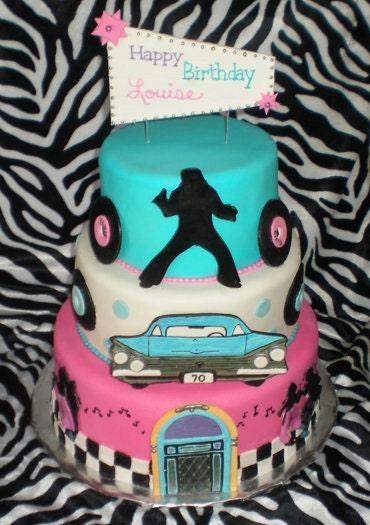 50 39 s theme cake decorating kit for Decoration 50 s theme