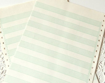 Vintage Paper. Green Lined Paper. Ledger. Lined Notebook Paper. Writing Paper. Note Paper. Journal Paper. Old Paper. Mixed Paper Journal.