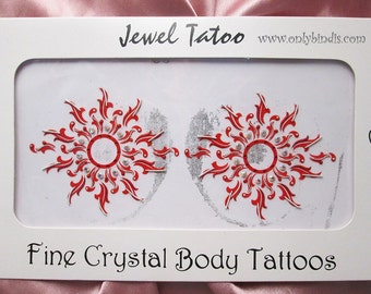 Intimate Vajazzle Erotic Red Nipple Non Piercing Temporary Stick On