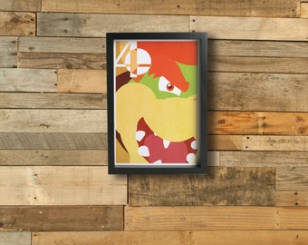 BOWSER poster - Inspired by Super Smash Bros.