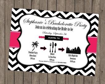 Printable Bachelorette Invitation - Stephanie Pink