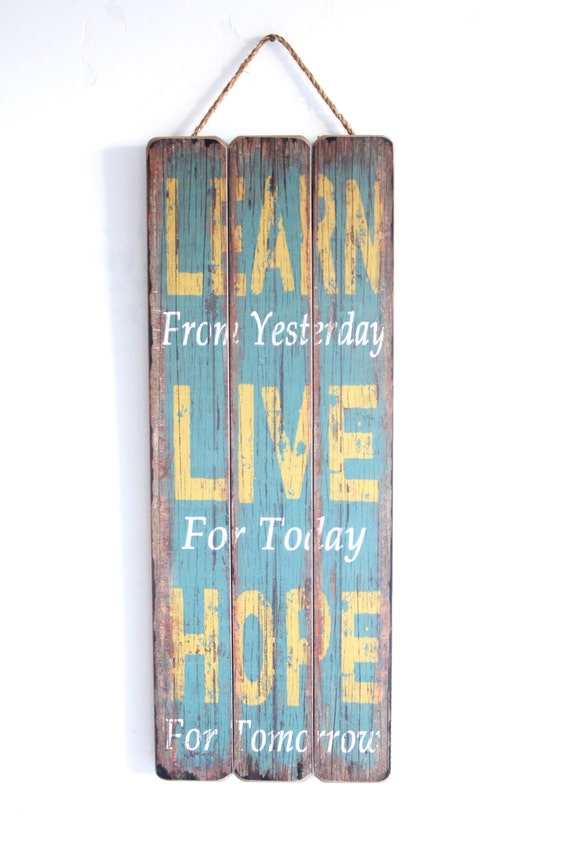 Inspirational Wall Art Learn Live Hope Home Decor Wooden
