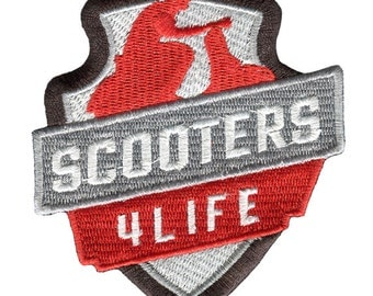 "Lambretta or Vespa Scooter Patch Badge MOD n Vigano ""Scooters 4 Life"""