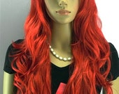 Super Long curly Red wig. Synthetic wig - high quality wig -ready to ship