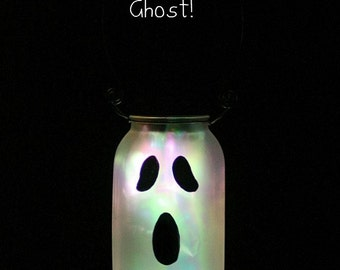 Halloween Decor - Fall Decor - Halloween Light - Halloween Mason Jars - Solar Mason Jar - Halloween Decorations - Solar Ghost - Halloween