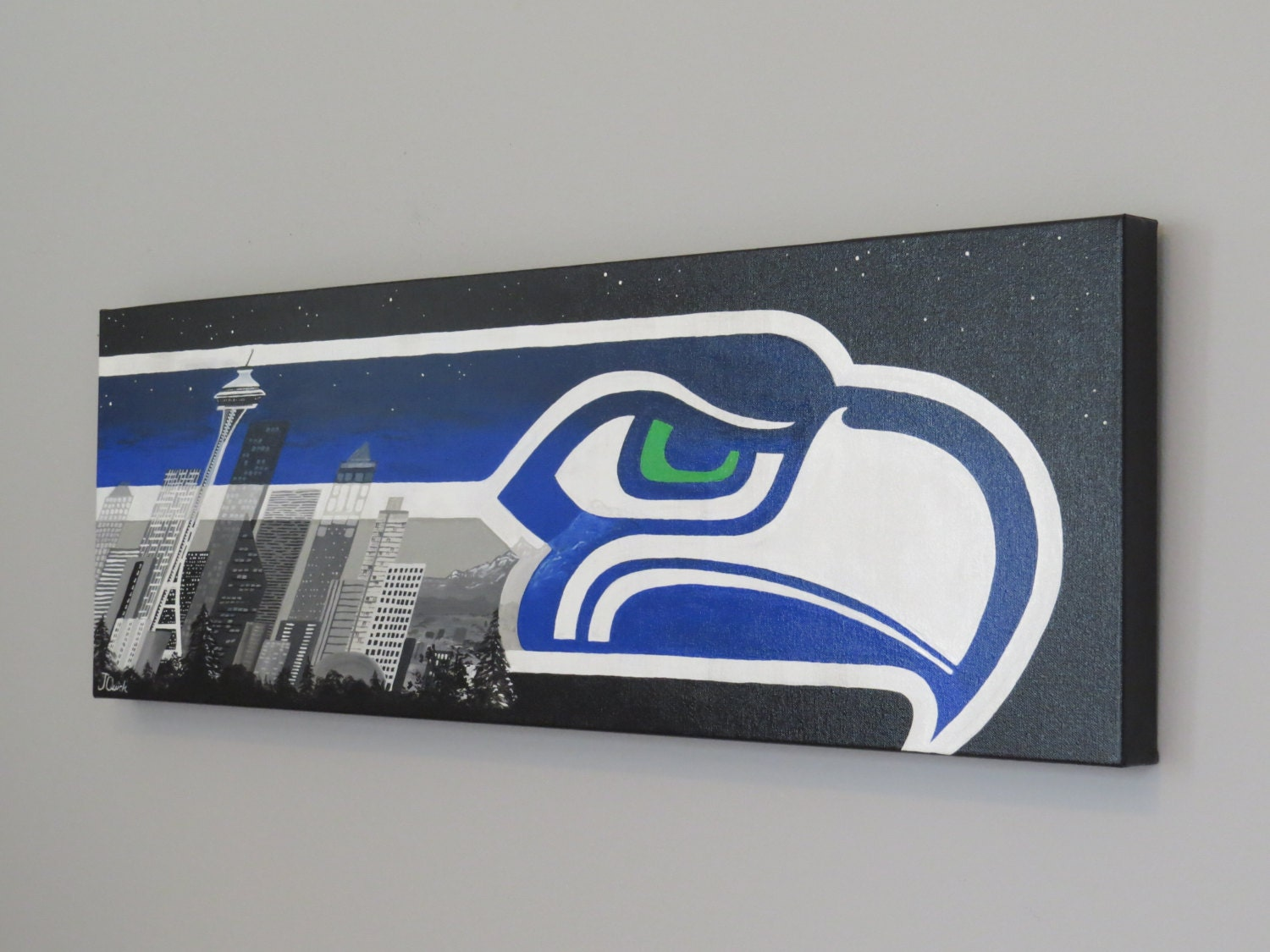 Seattle Wall Art seattle art seahawks painting super bowl xlviii seattle
