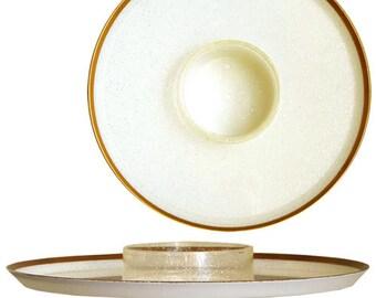 Vintage Glitter UFO Snack Plates