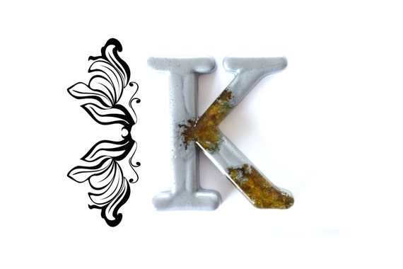 Wall Decor Letter K : Decorative letter k wall decor handmade resin by