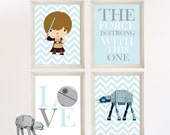 Baby Boy Star Wars Nursery Art- Boy Room Decor -  - Star Wars Decor - Baby Shower Gift - Nursery Play Room - Boy Wall Art-BR043