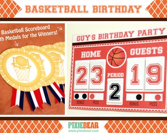 Basketball Scoreboard - Basketball Party - Basketball Birthday Decorations - Boy Birthday Prinatble - Basketball Download (Instant Download)