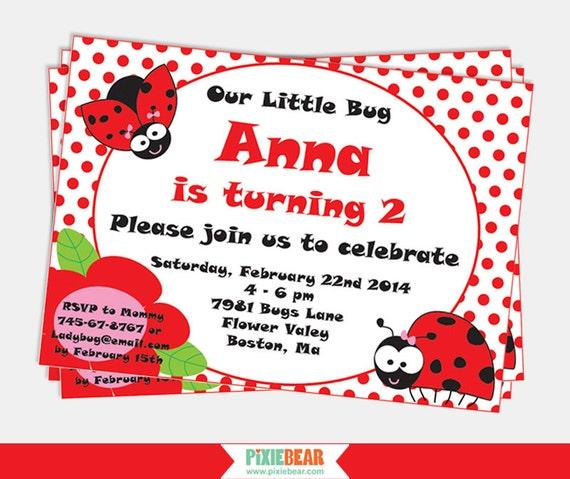 Ladybug birthday invitation ladybug invitation ladybug party il570xn filmwisefo