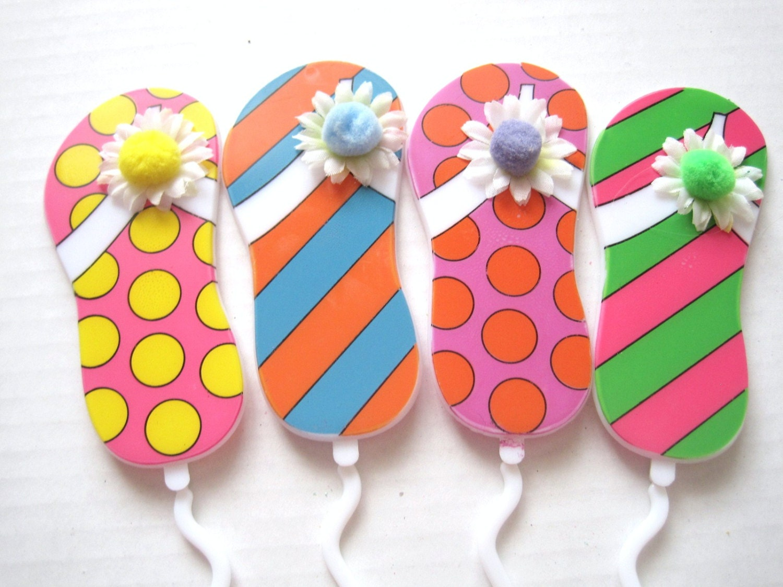 floral picks pk12 flip flops card holders 13 new