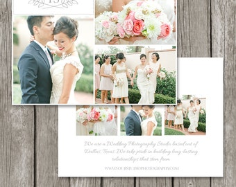 Photography Marketing Flyer Photo Card for Photographers - Wedding Photography Marketing Postcard Template Board - MC01