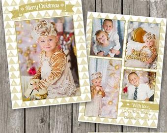 Christmas Card Template - Holiday Photo Card for Photographers - Christmas Template Design - CC28