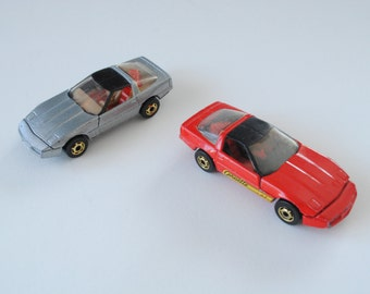 Small toy cars from the 80s