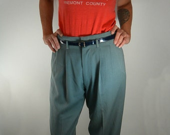 40s Work Pants// High Waist Pant// Wide Leg Pant