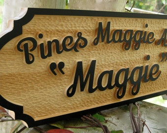 Personalized Tack Room Sign Barn Door Plaque Wood Horse Name