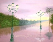 Original Pastel Drawing: After the Rain