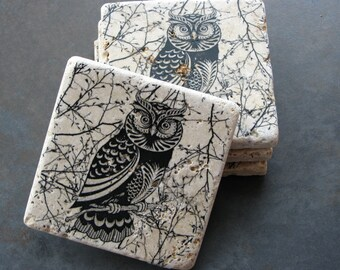 Perched Owl Coaster