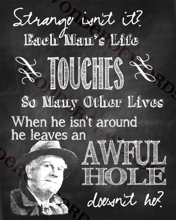 Items Similar To It 39 S A Wonderful Life Clarence Quote Chalkboard Look Digital Print 8x10 On Etsy