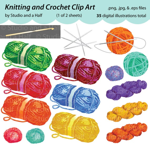 Knitting And Crocheting Clipart : Gallery for gt yarn ball clip art crochet