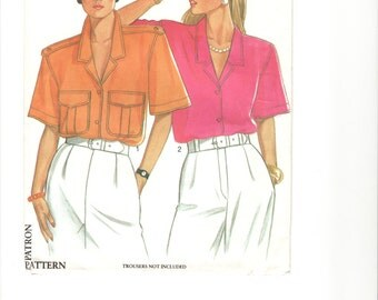 Pattern: New Look Women's Blouse. Sizes 8-18 included.  FREE US SHIPPING!