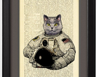 Astronaut Cat Drawing (page 2) - Pics about space
