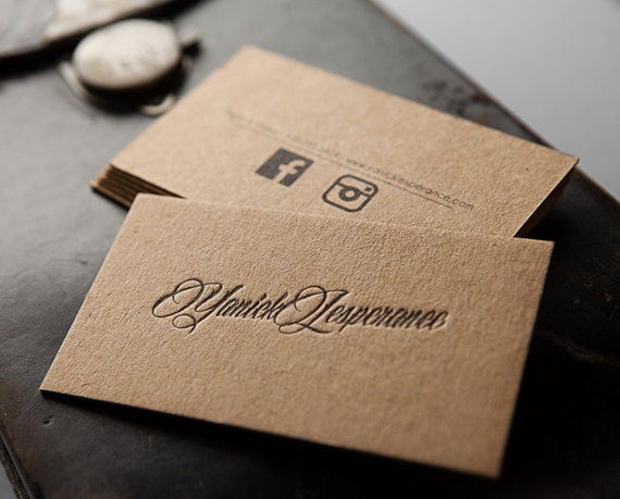 Gallery For Brown Kraft Paper Business Cards