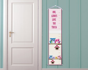 Owl Love Personalized Growth Chart