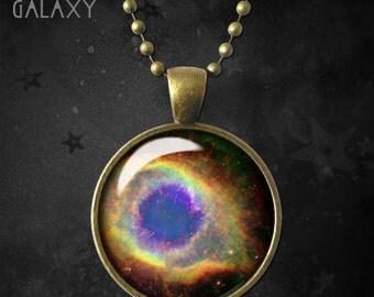 Planetary Nebula Necklace, Pendant, Planetary Nebula Charm with Chain
