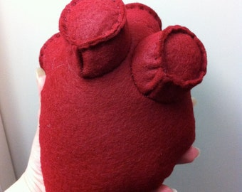 Hannibal inspired large anatomical human heart plush