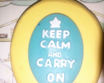 Keep Calm and Carry On Flexible Silicone Mold