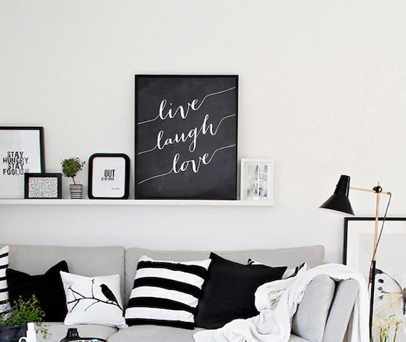 Live laugh love wall decor inspirational by onlyprintablearts for Live laugh love wall art