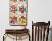 Dresden Plate Quilted Wall Hanging Tapestry Modern Colorful Wall Pop Art